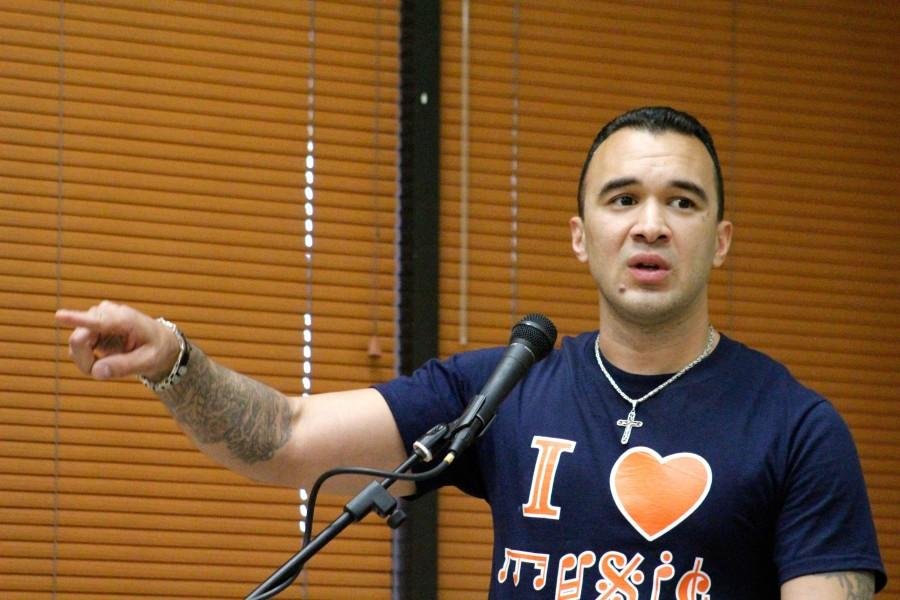 Senior commercial music major, Robert Vega will be graduating at this year's spring commencement despite previous setbacks such as spending time in prison.