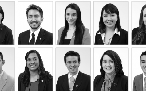 Top Ten Seniors, top (left): Mayela Aldaz, Jeremiah Alexander Balcazar,  Karla Becerra, Joselyn Cardenas Anaya and Lisa Haisan. Bottom (left): Steven Taylor Harmon, Beatriz Madrigal Sanchez, Andre Perez-Orozco, Claudia Preza and Esteban Quintanilla.