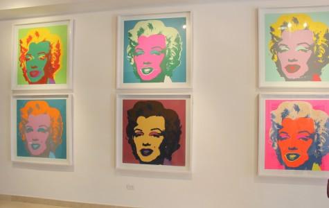 La famosa obra de arte basada el la actriz Marilyn Monroe es parte de la exposicion de Andy Warhol, el rey del pop art.