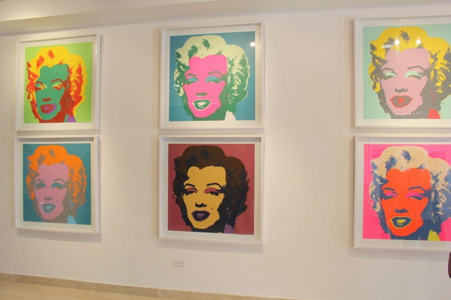 La+famosa+obra+de+arte+basada+el+la+actriz+Marilyn+Monroe+es+parte+de+la+exposicion+de+Andy+Warhol%2C+el+rey+del+pop+art.+