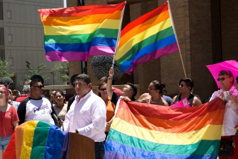 El Pasoans rally after the Supreme Court ruled in favor of marriage equality in all 50 states.