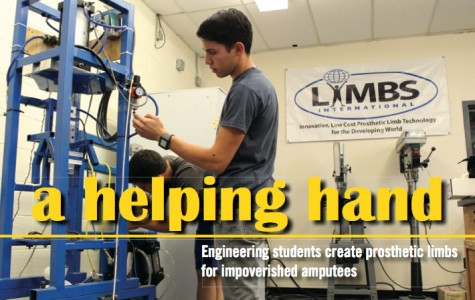 Engineering students create prosthetic limbs for impoverished amputees