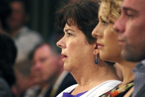 Elizabeth Sullivan, left, mother of the San Francisco woman killed by an undocumented immigrant, sits with her son, Brad Steinle, and his fiancee, Amy Warehouse, Tuesday during the Senate Judiciary Committee hearing.