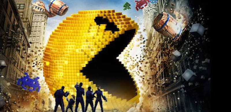 The motion picture Pixels stars Adam Sandler and Kevin James as a pair of video game enthusiasts who fight off alien video arcade game enemies trying to destroy the planet.