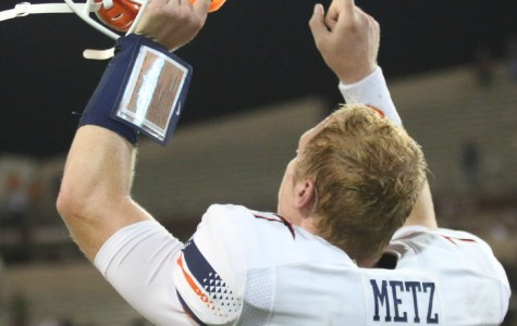 Quarterback Ryan Metz led the Miners to the game winning drive in overtime to defeat the Aggies 50-47 in Las Cruces.