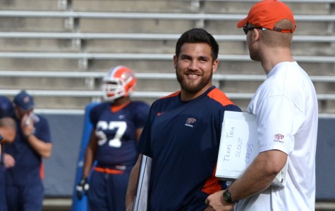 Graduate assistant Anthony Puente is in his first year as a graduate assistant for UTEP. Puente was a linebacker for the Miners from 2011 to 2014.