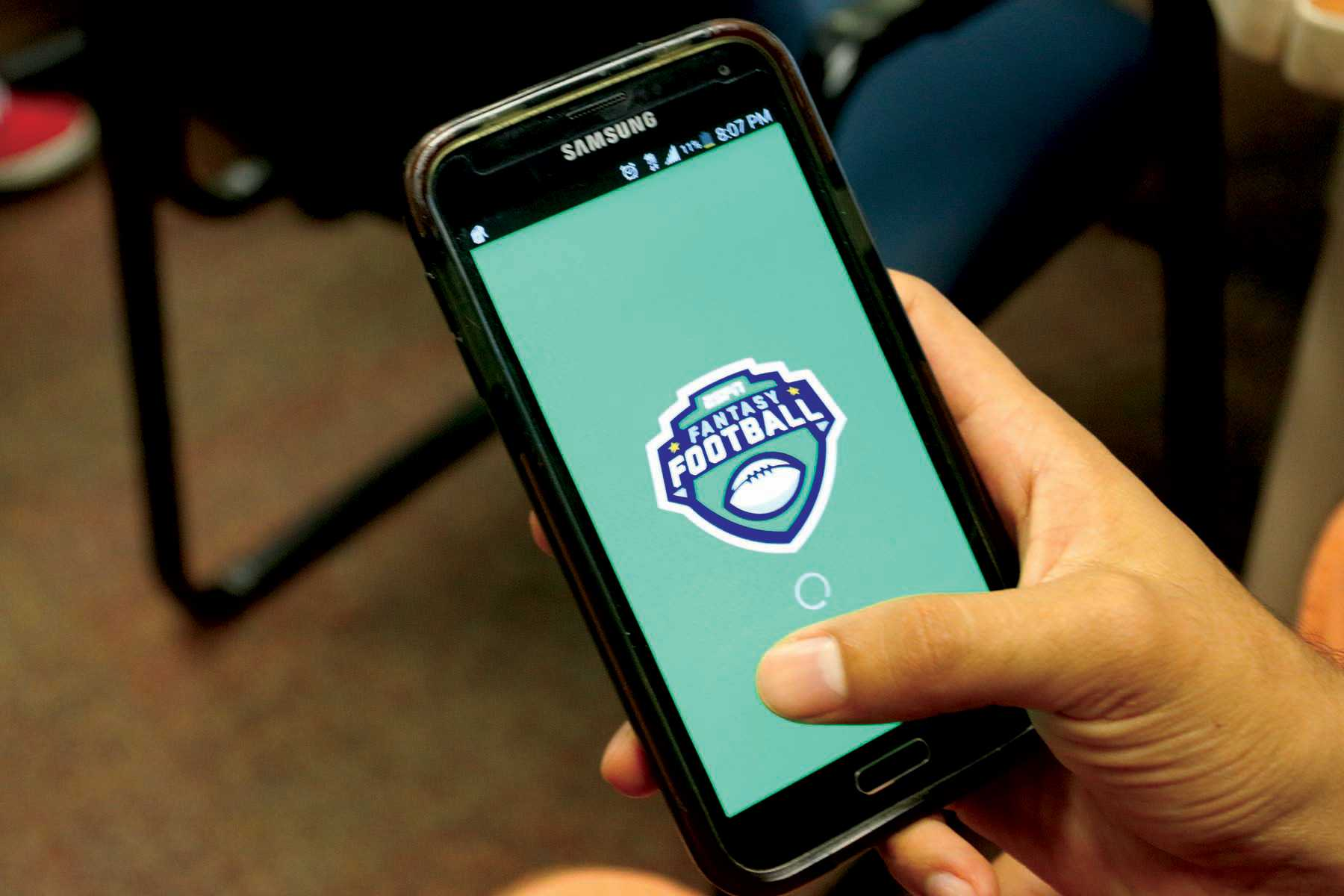The ESPN Fantasy Football app is an accessible for both Google Android and iPhone users.
