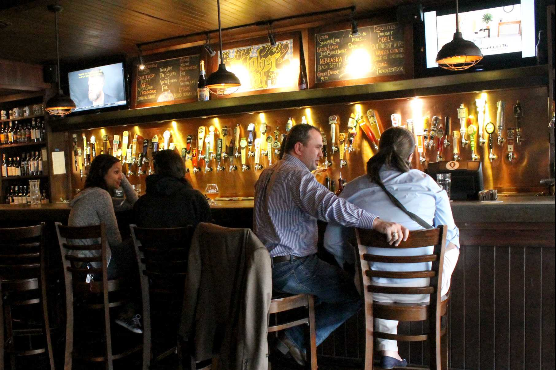 The Hoppy Monk, located at 4141 N. Mesa St. is a convenient location to grab a drink before or after the game.