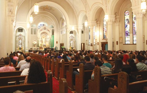 Catholic citizens attend Sunday mass at St. Patricks Cathedral  on Sunday morning.