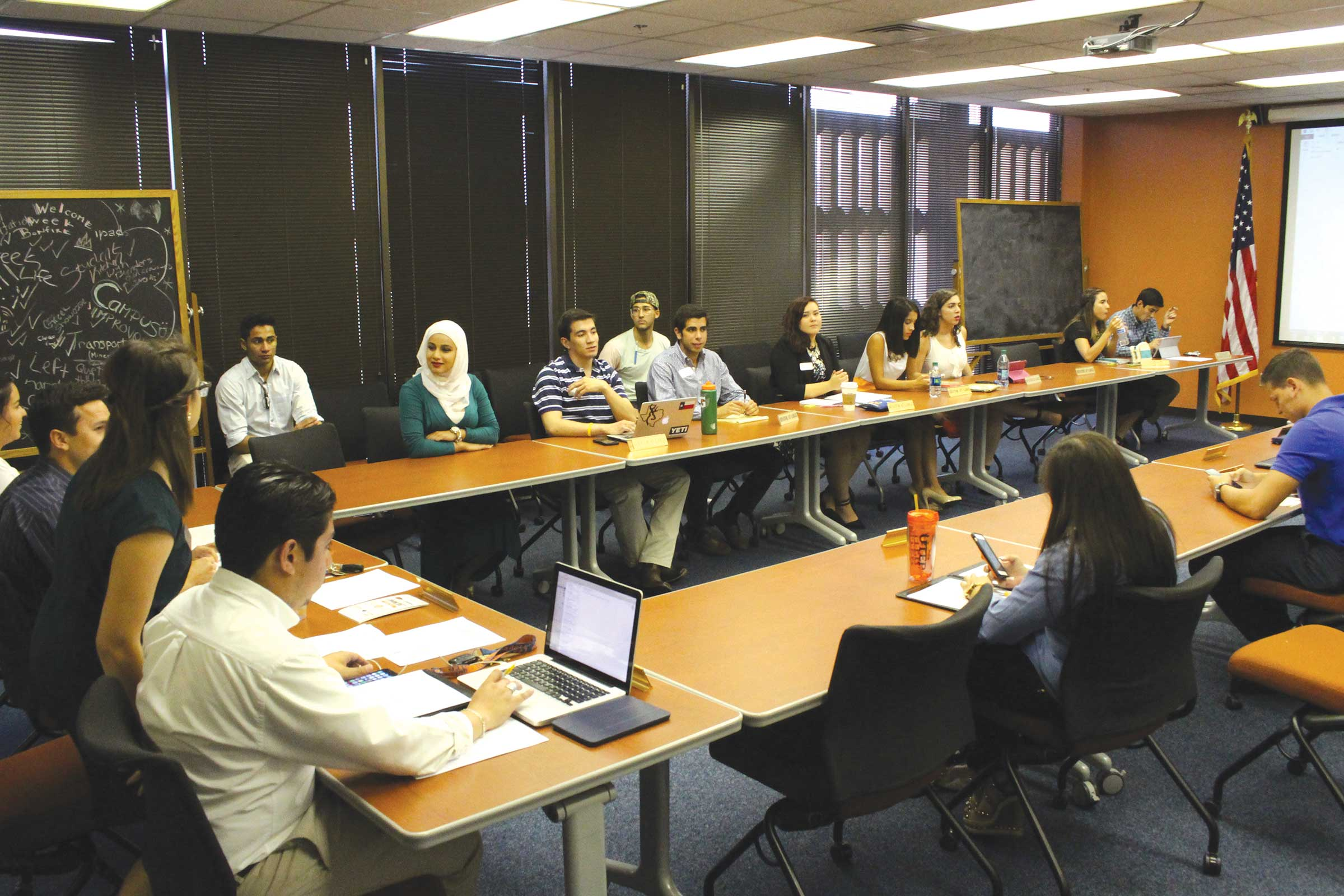UTEP SGA holds a meeting to discuss issues around the UTEP campus and it's community.