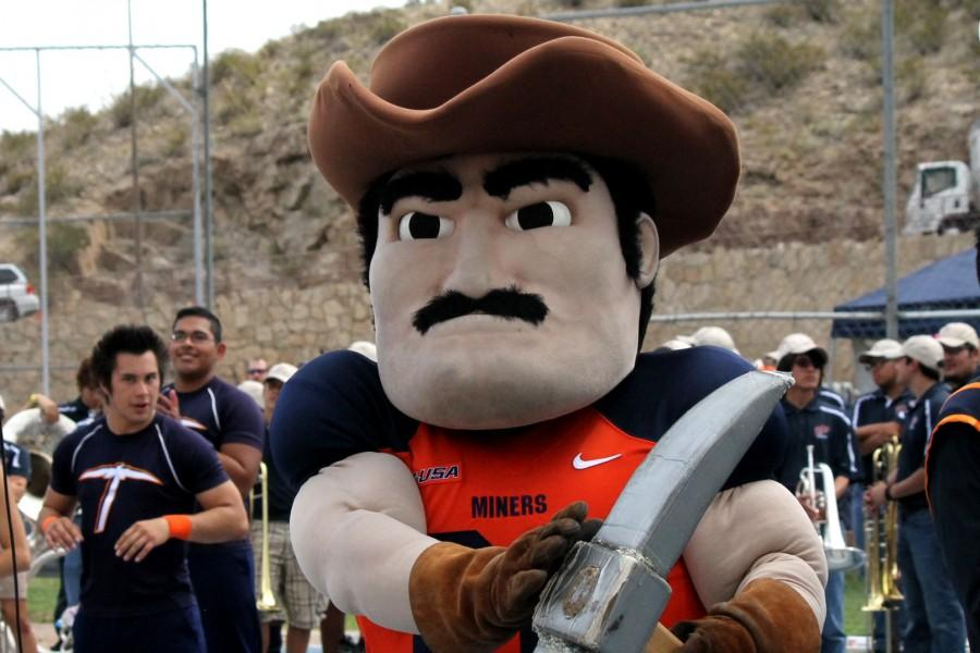 Paydirt Pete, UTEP's mascot, usually participates in homecoming celebrations.