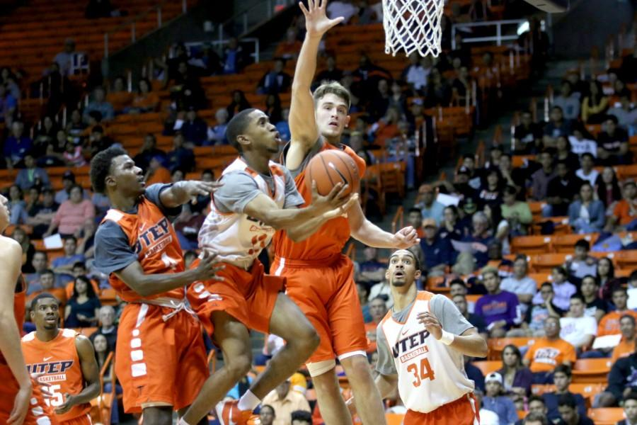 The+UTEP+men%E2%80%99s+basketball+team+showcased+their+talents+in+a+3-point+shootout%2C+dunk+contest%2C+and+inter-squad+scrimmage.+