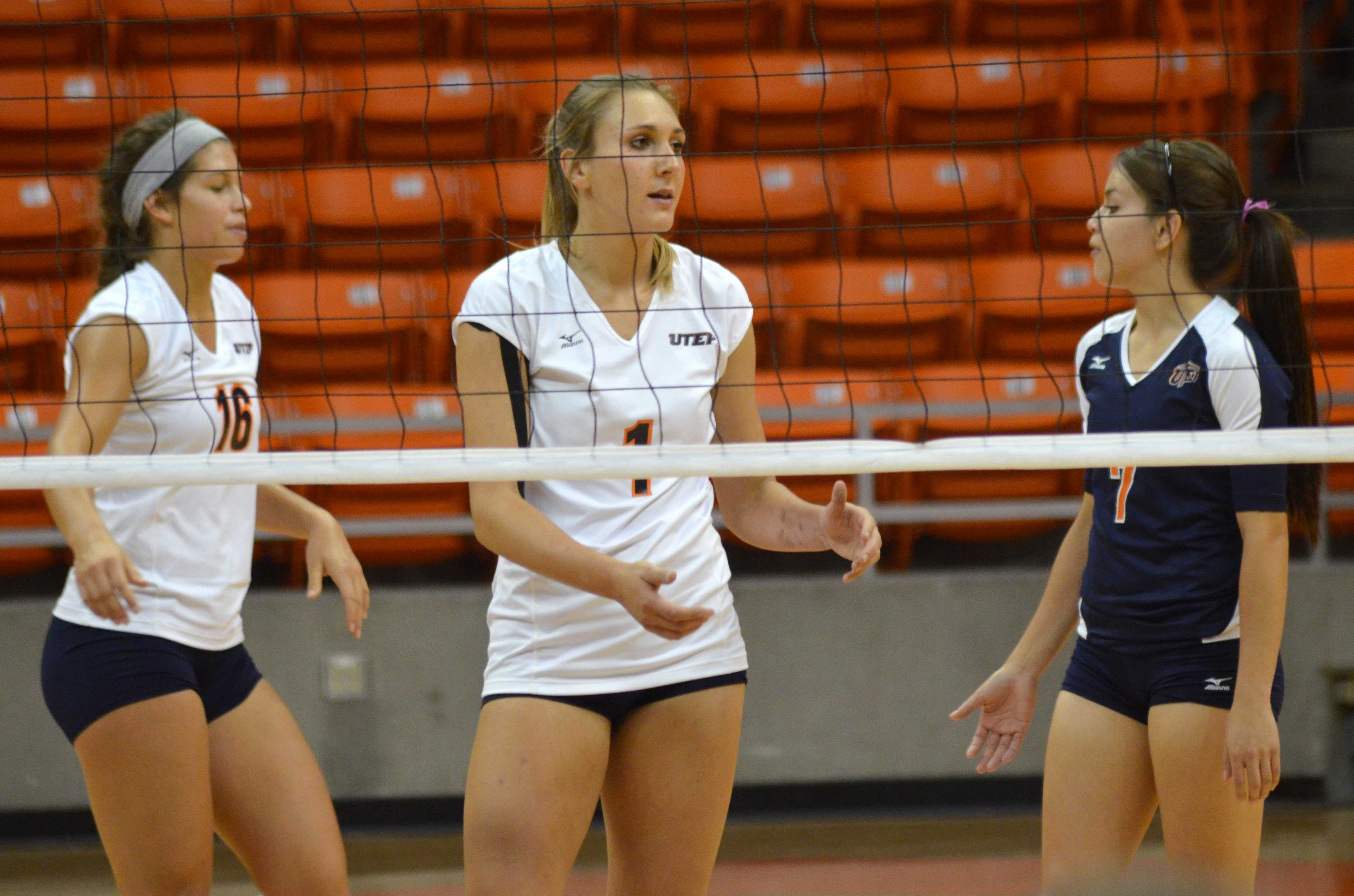 Sophomore outside hitter Coline Coessens leads the Miners in total attempts and kills.