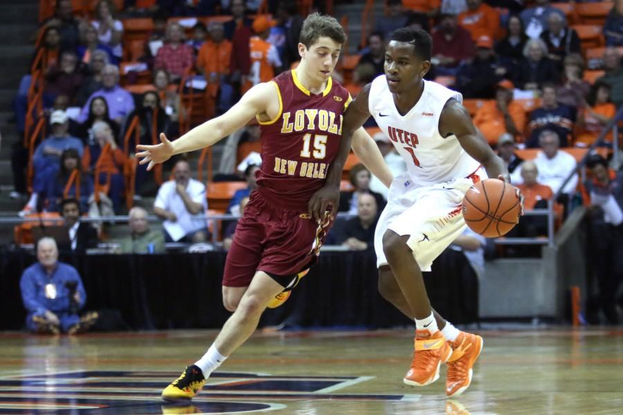 Junior guard Dominic Artis scored 16-points, nine rebounds and eight assists against Loyola in the Miners season opener at the Don Haskins Center this past Saturday.