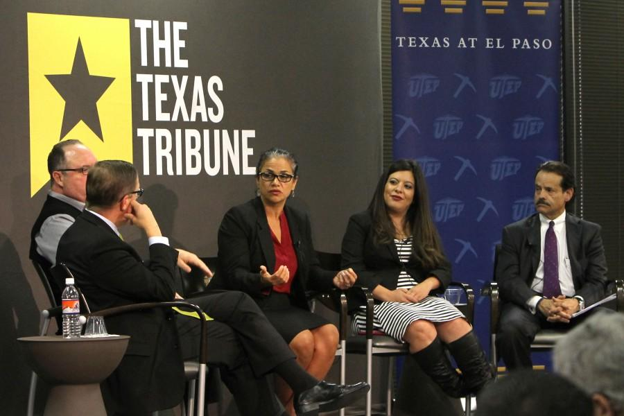 """Chief Deputy Commissioner of the Texas Education Agency Lizzette González-Reynolds answers questions at """"Public Education: The Next Five Years""""."""