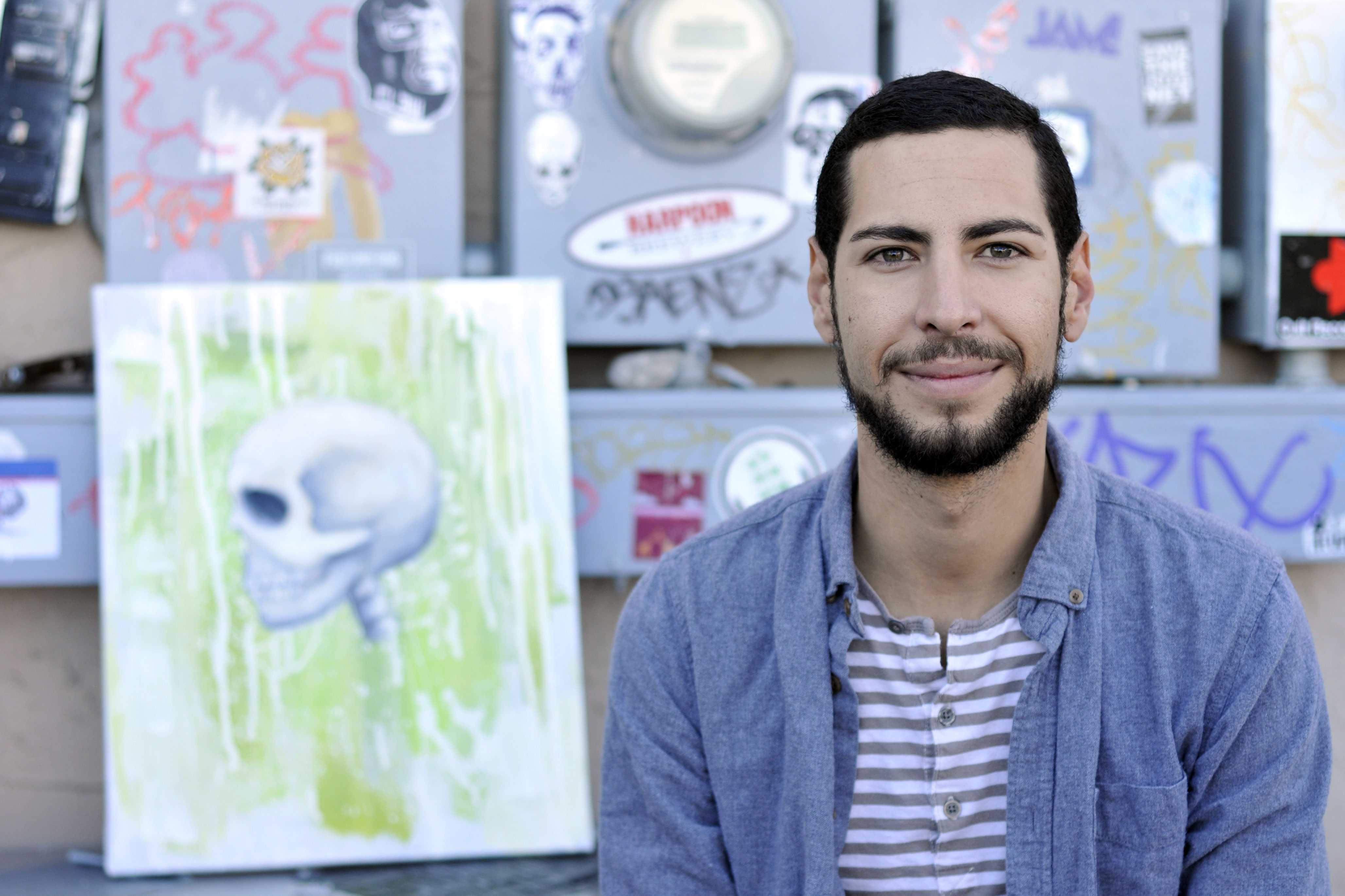 "Sergio Cuerto, coordinator of ""Mundo Muerto: A Collective Art Show,"" which will open on  Saturday, Nov. 18 at the Glasbox on 210 Poplar St."