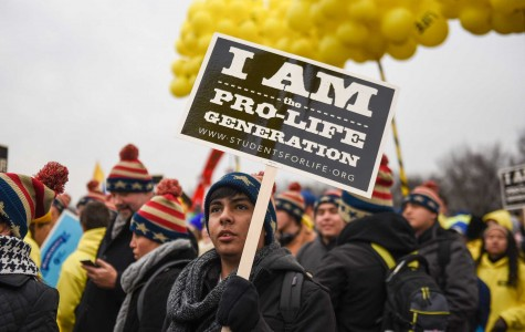 Ricardo Zavala, 16, of Palacios Texas was one of thousands that stood out in the cold for this year's March for Life.