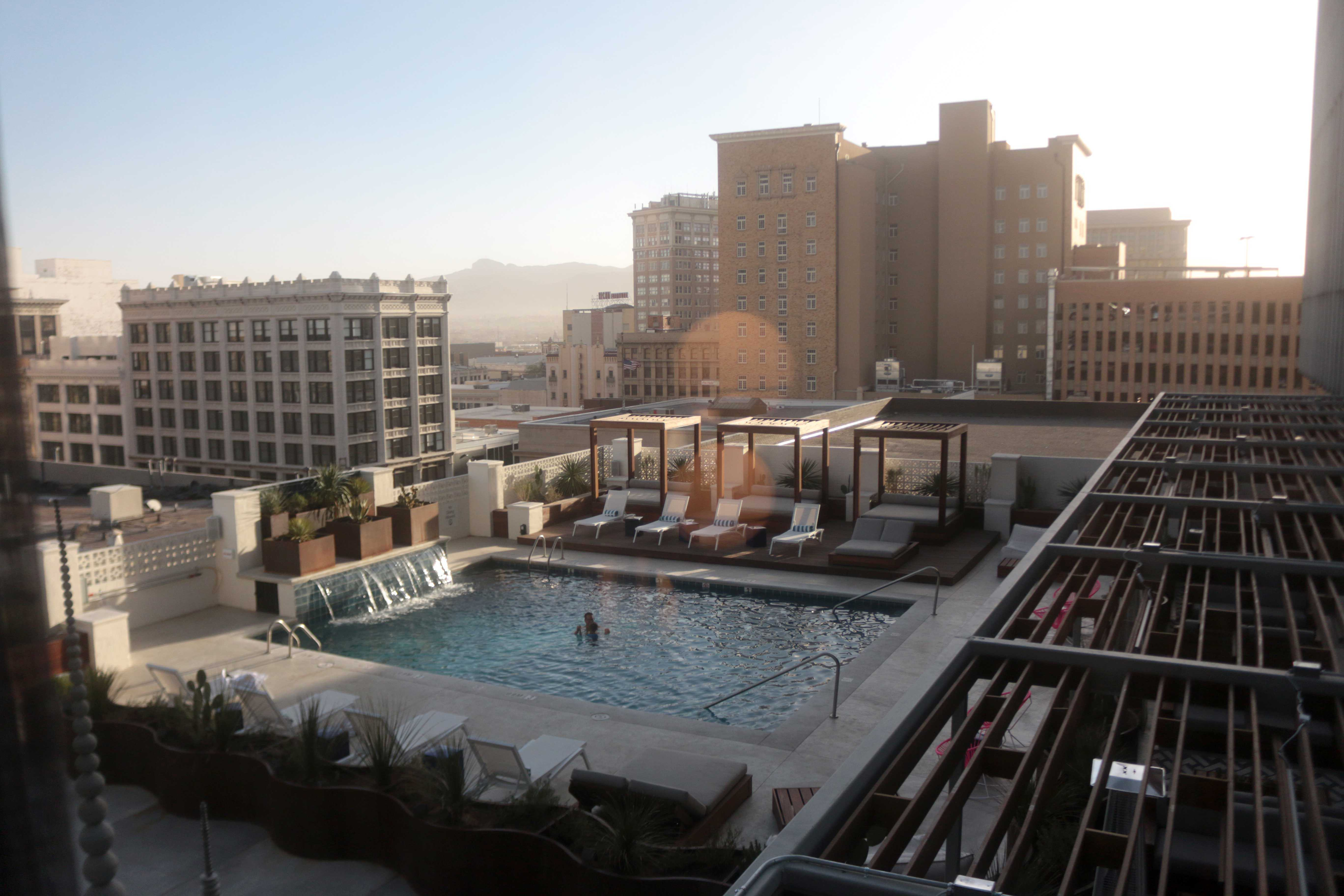 Hotel Indigo is located at 325 N. Kansas St. in downtown El Paso. The hotel includes a modish pool, contemporary rooms and the Circa 1963 bar.