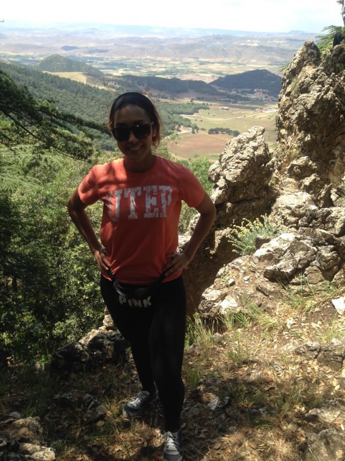 Kim Valle at the Atlas mountains.
