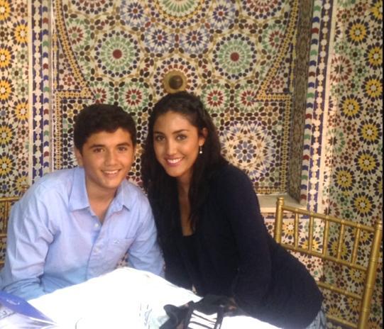 Kim Valle with Mamoun Aloui.
