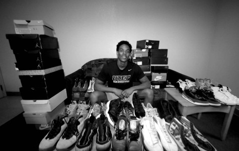 Shoes are a lifelong obsession for guard Omega Harris