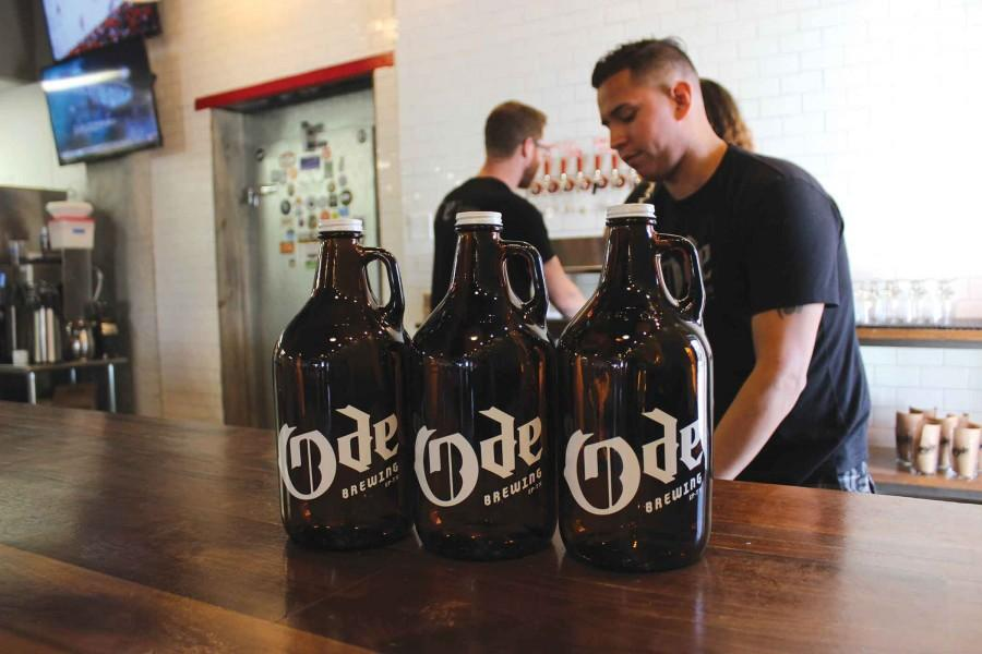 Ode Brewery, located at 3233 N Mesa St., serves growlers which allow customers to purchase large amounts of beer to take home.