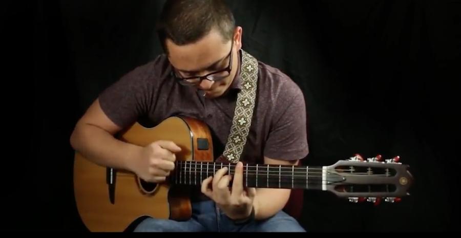 Arturo Gonzalez improvises with the guitar.
