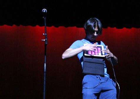 Abraham Perez used iPad to play electronic beats and sang religious lyrics.