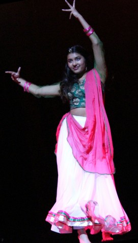 Swathi Venattu, who won second place and $750 in winnings, danced to a Bollywood number. She plans to donate half of her prize to Doctors Without Borders.
