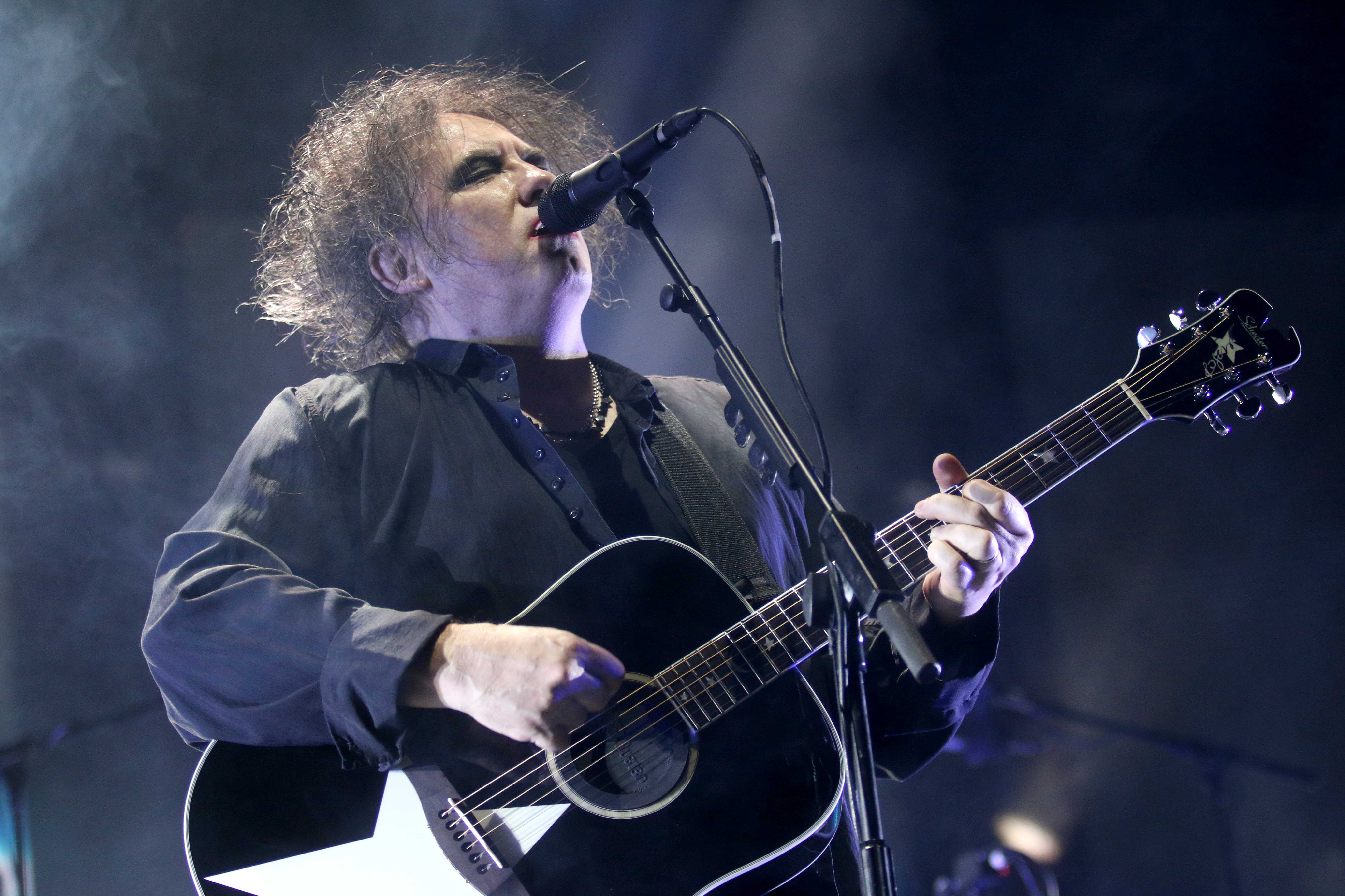 Lead singer of rock band The Cure performs at the Don Haskins Center on Tue. May 17.