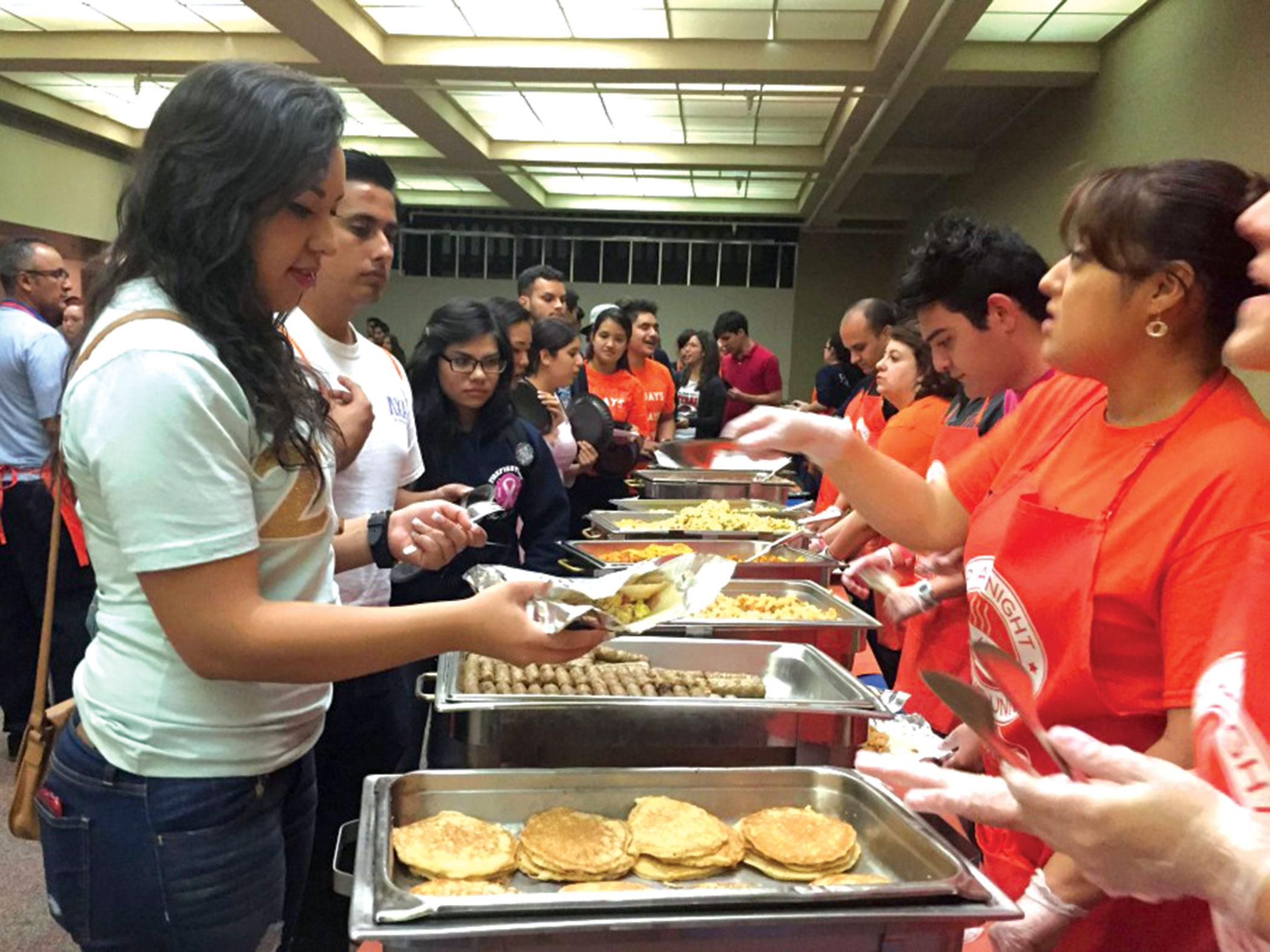 Up All Night will take place at the Union Building East on Tuesday May 10. Around 60 to 70 volunteers are preparing to hand out midnight breakfast.