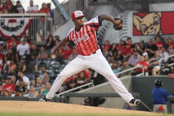 Starting+pitcher+Bryan+Rodriguez+pitched+eight+innings+only+allowing+one+run+against+the+Reno+Aces.+