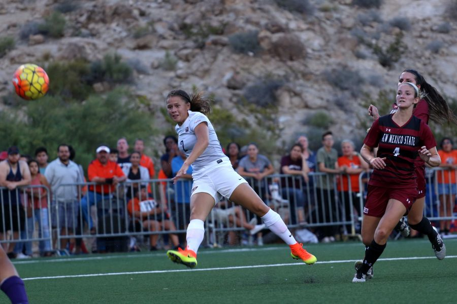 The+UTEP+Miners+Woman%27s+soccer+team+played+against+the+NMSU+Aggies+at+the+University+Field+on+August+19%2C+2016.