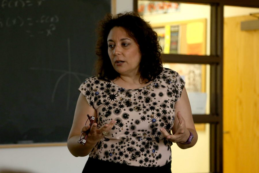 Professor Maria de los Ángeles Flores is teaching her first semester at UTEP.