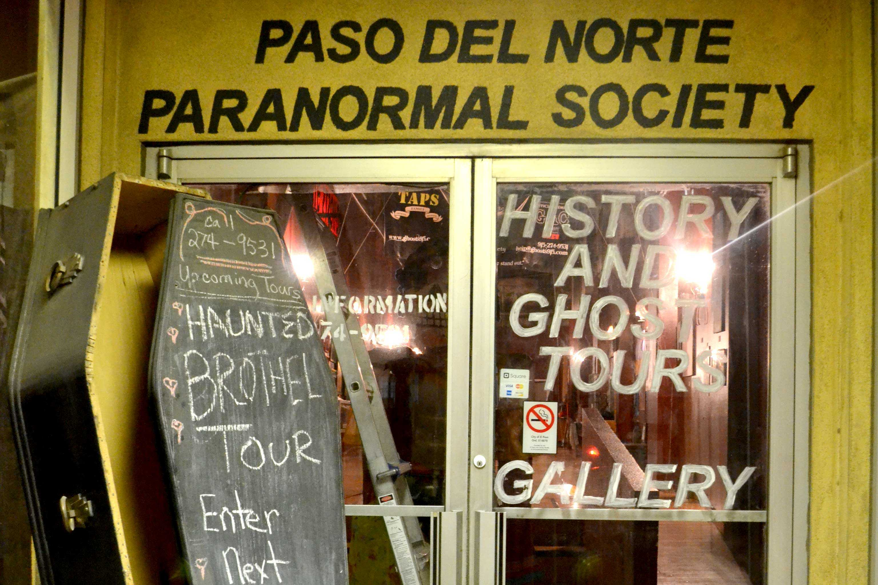 Located at 108 San Antonio Street, the Paso del Norte Paranormal Society specializes in researching and investigating paranormal activity in the El Paso area.