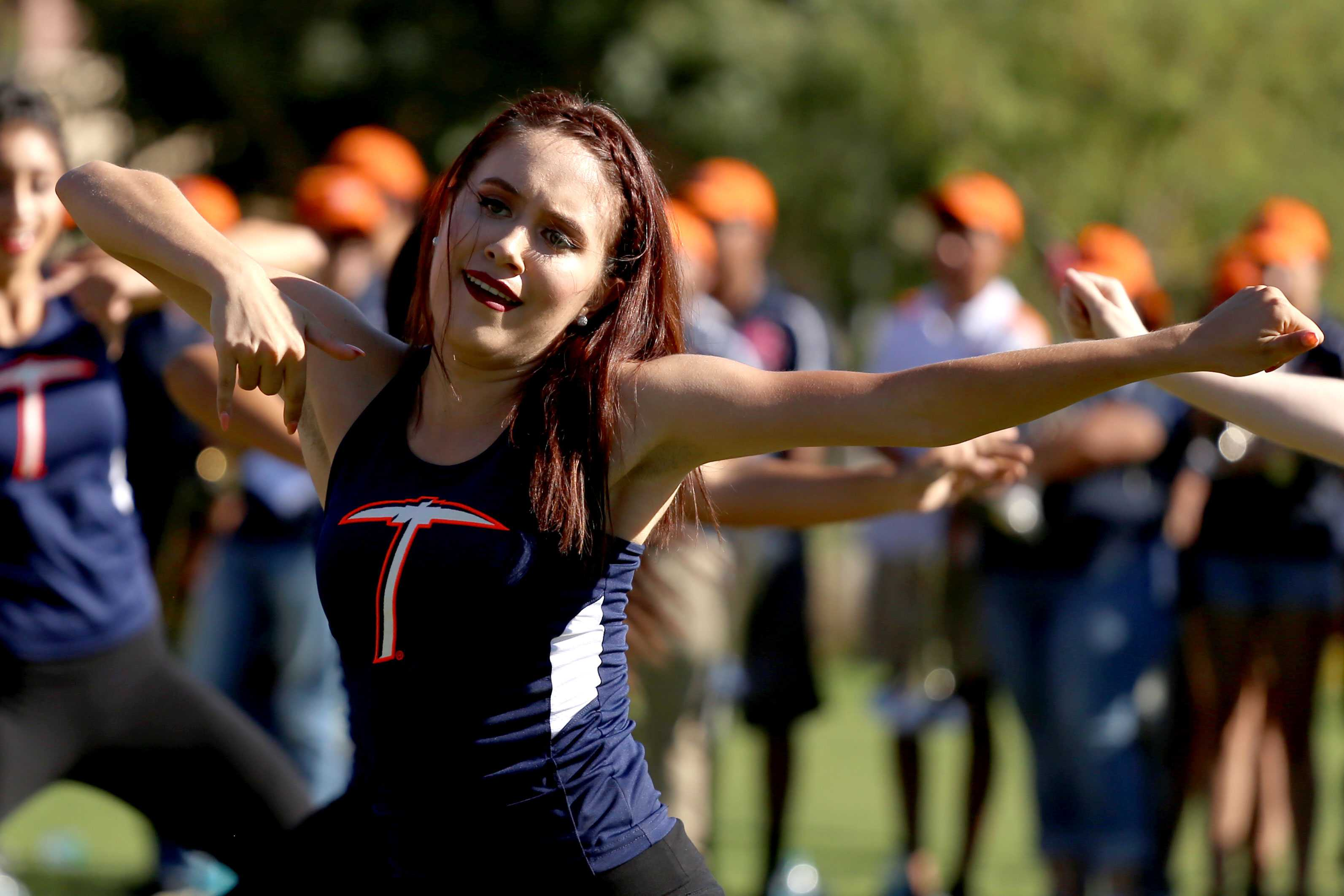 UTEP+goldigers+perform+at+the+pep+rally.+
