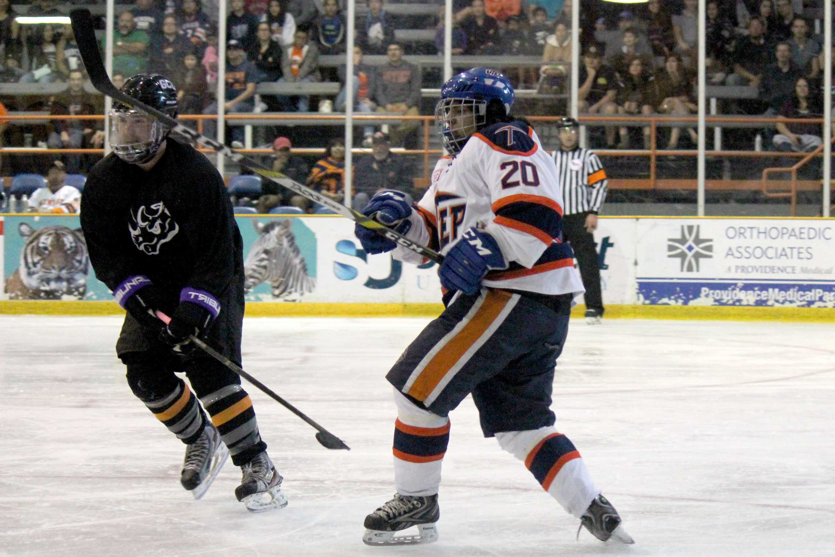The Miner hockey club swept Grand Canyon University over the weekend, defeating them at home 7-3 and 4-2.