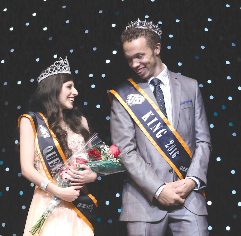 Junior mechanical engineering major, Lana Hussein and Junior commercial music major, Jean-Andre Moore were crowned UTEP's 2016 homecoming king and queen Sunday, Oct. 23.