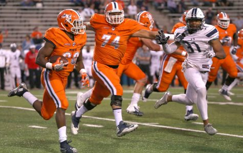 UTEP standout running back Aaron Jones is now UTEP's all-time leading rusher with 3,738 career rushing yards.
