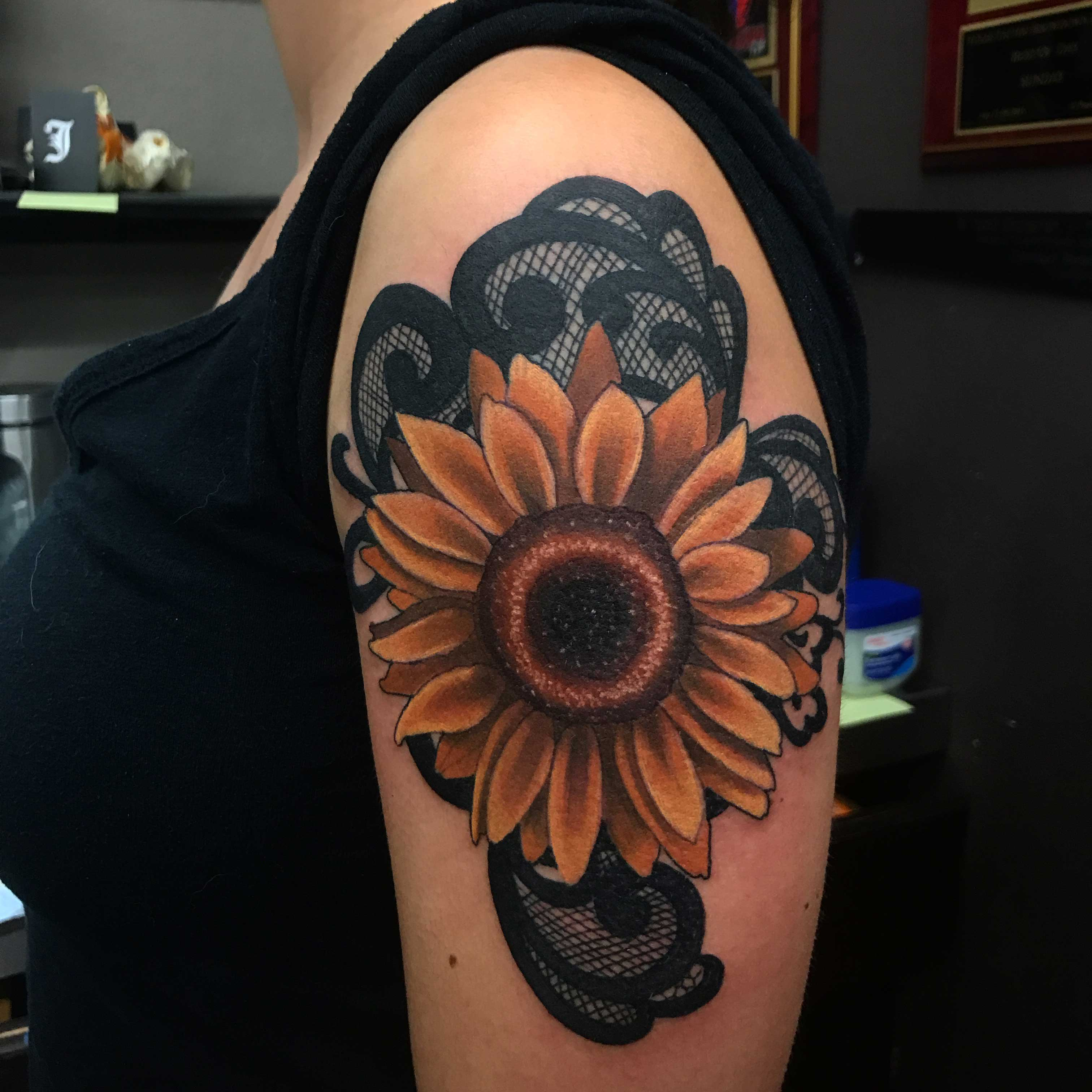 Sunflower+by+tattoo+artist+Brian+Stephens.+