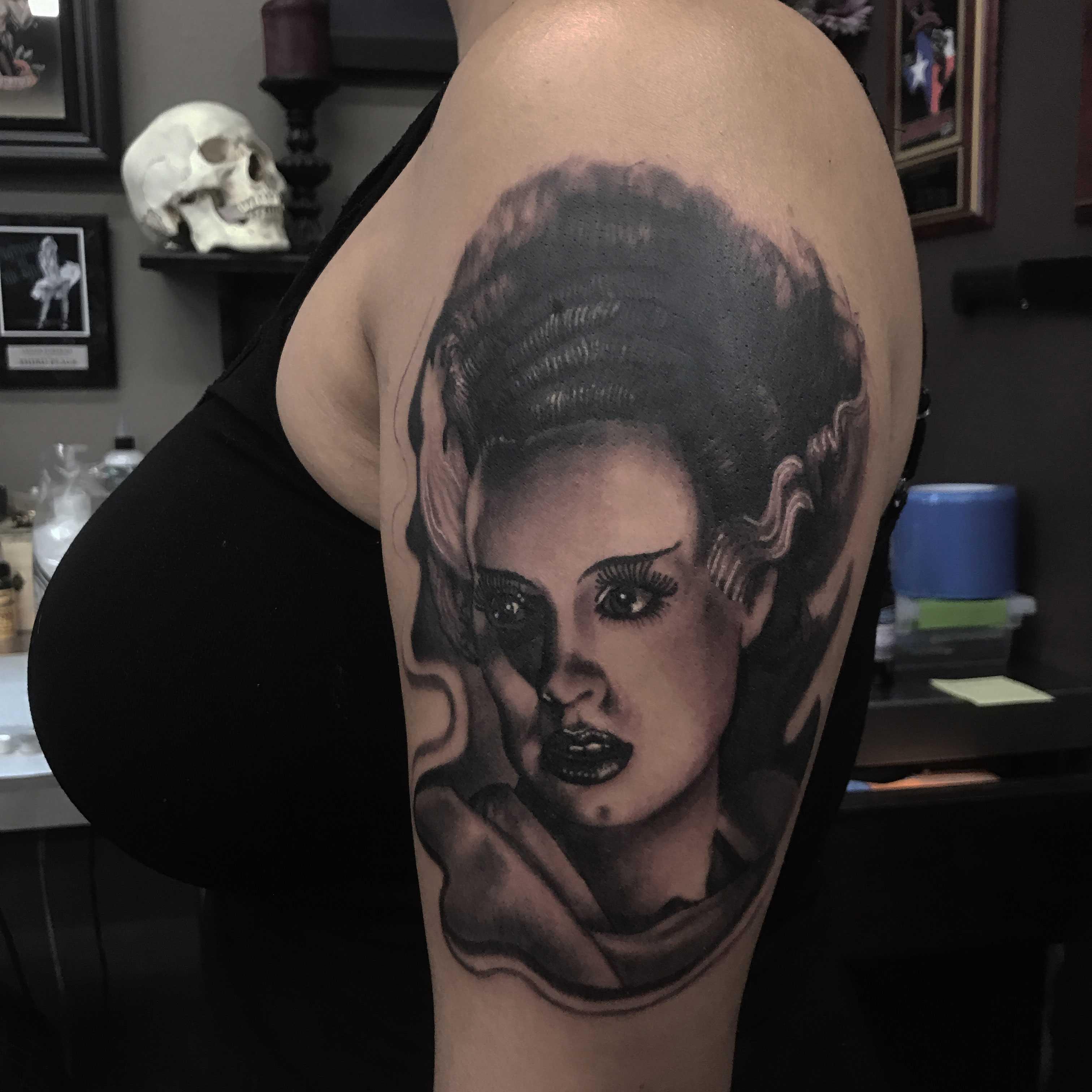 Bride+of+Frankenstein+by+tattoo+artist+Brian+Stephens.+