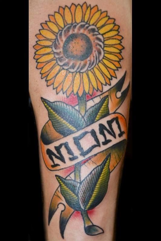 Sunflower+by+tattoo+artist+Eric+Ward