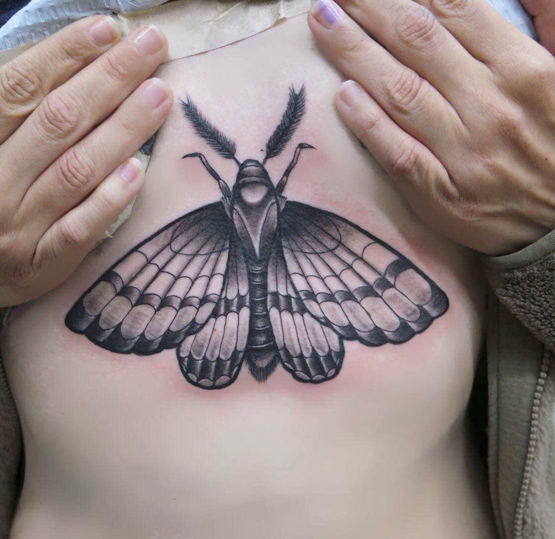 Moth+by+tattoo+artist+Mitchell+Dean.+