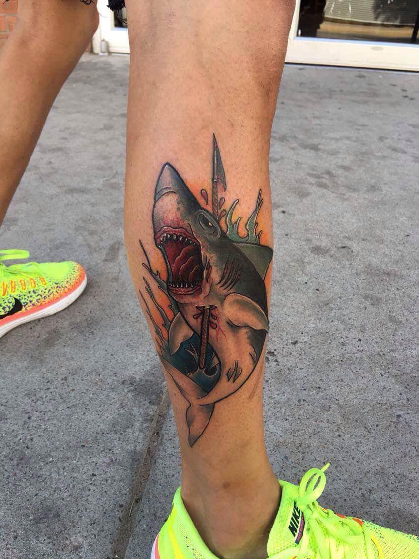 Shark+by+tattoo+artist+Mitchell+dean.