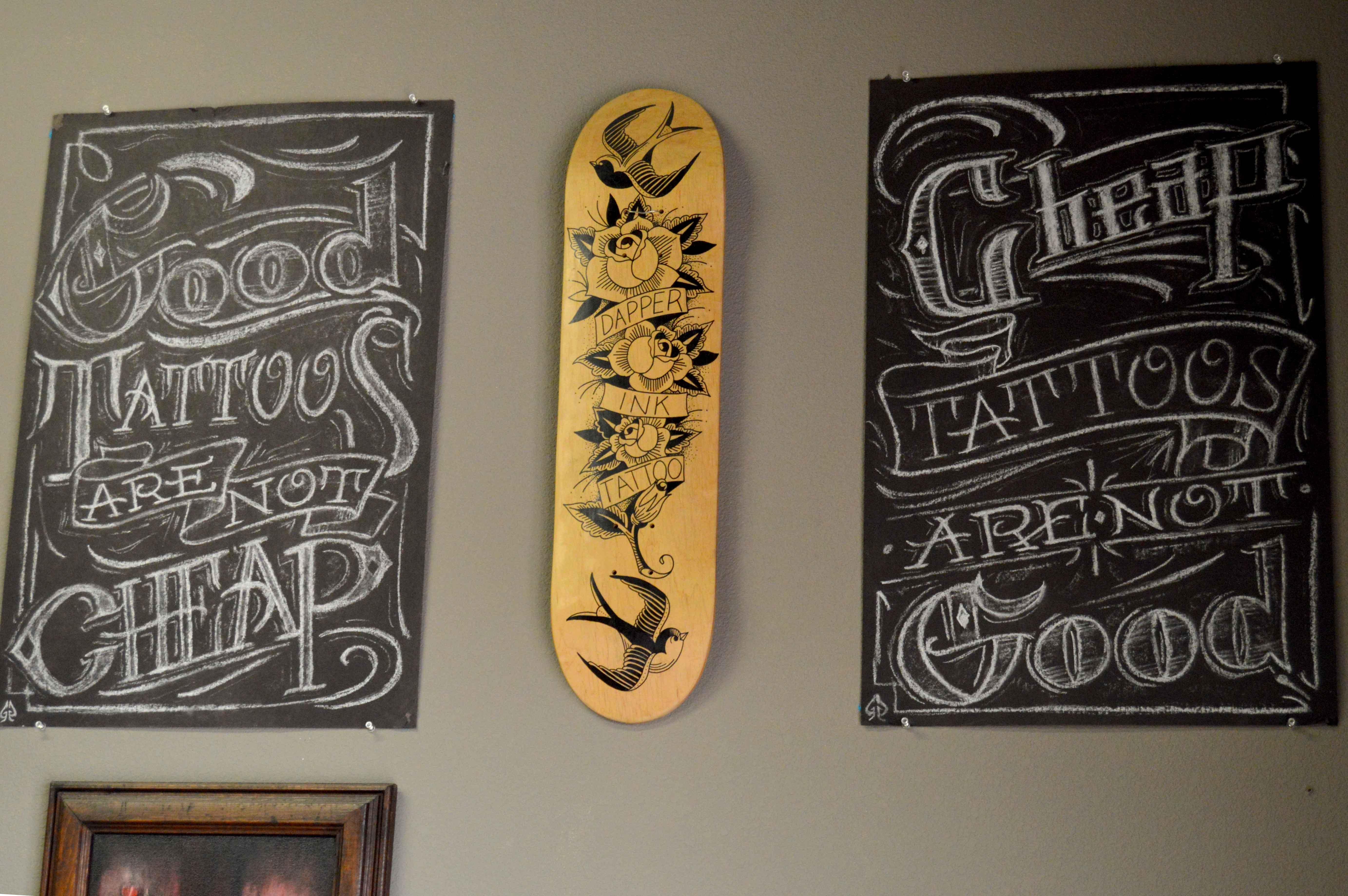 Wall+art+at+Dapper+Ink+tattoo+shop.