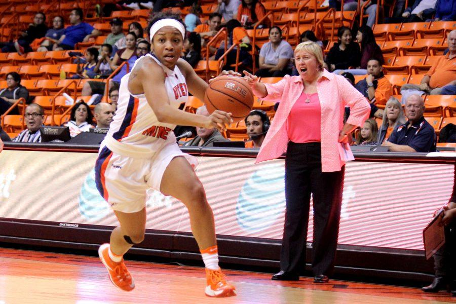 UTEP+women%E2%80%99s+basketball+team+is+currently+starting+their+second-worst+start+under+head+coach+Keitha+Adams+%281-5%29.+