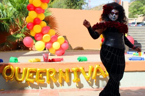 Drag queen Athenea Rae preforms a lip-sync to Fleetwood Mac