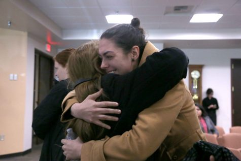 Proponents of saving Duranguito hug after hearing city council