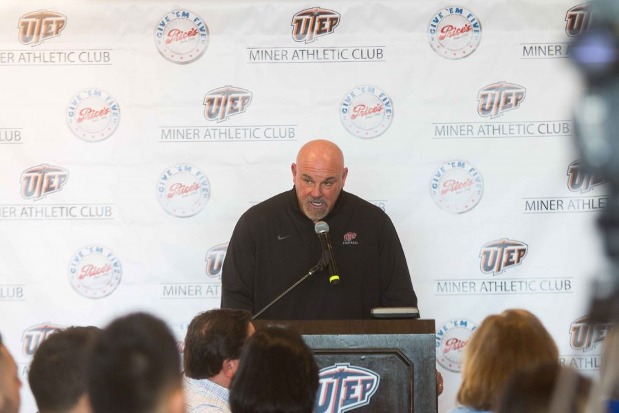 UTEP+Head+Coach+Sean+Kugler+announces+the+2017+signees.+