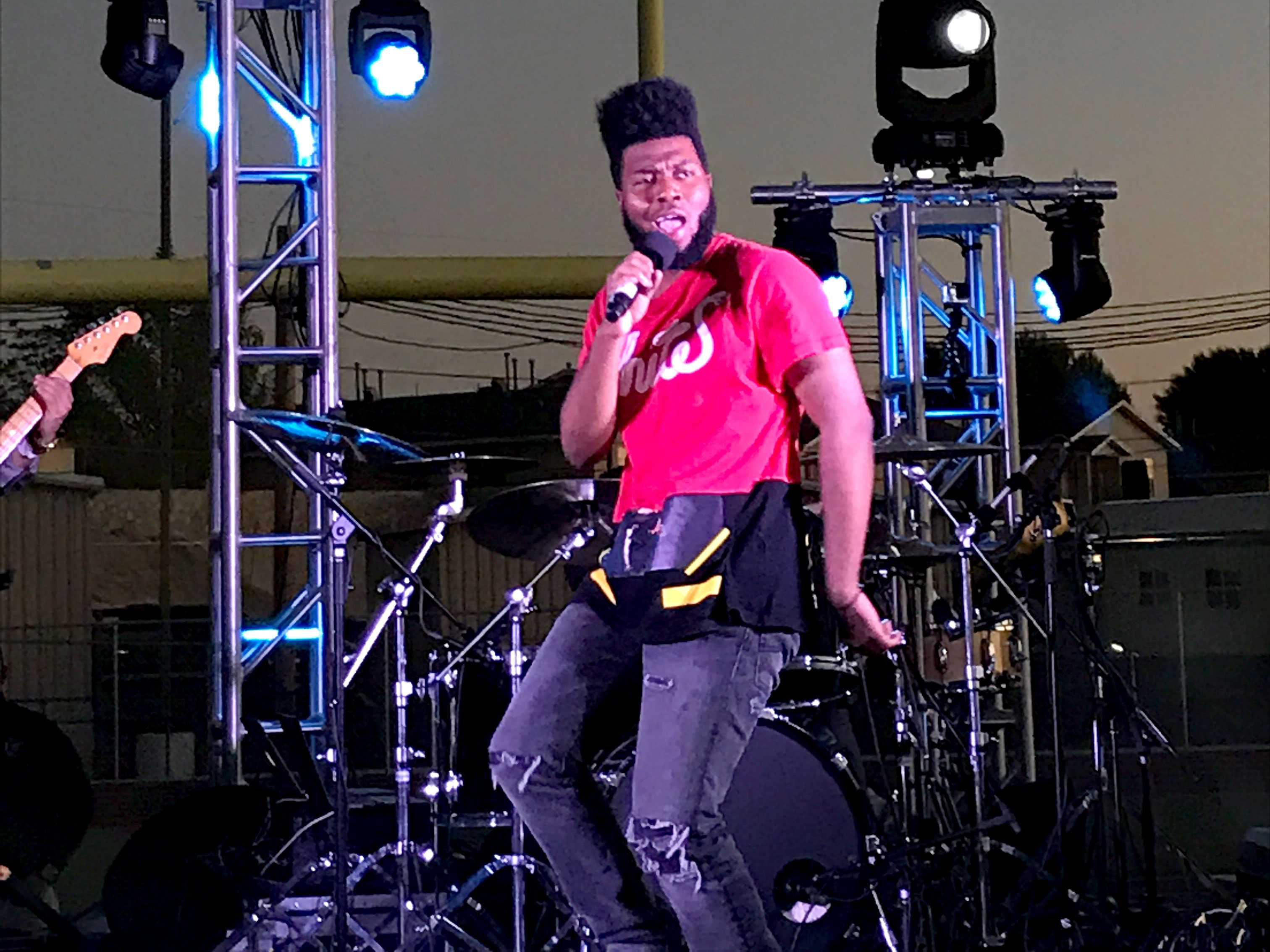 Khalid performed an invite-only show on Friday, March 24 at Americas High School for Spotify Premium members in El Paso.